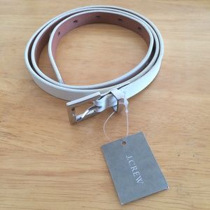 J Crew Skinny Belt Italian Leather Made in USA